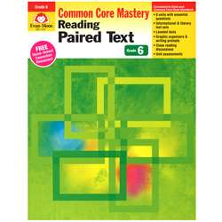 Shop Gr 6&Up Reading Paired Text Lessons For Common Core Mastery - Emc1376 By Evan-Moor