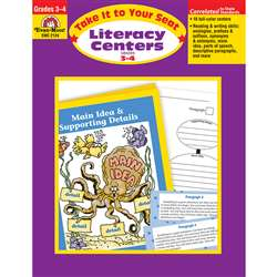Take It To Your Seat Literacy Centers Gr 3-4 By Evan-Moor
