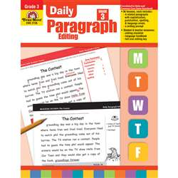 Daily Paragraph Editing Grade 3 By Evan-Moor