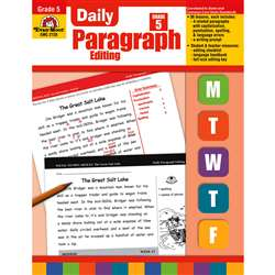 Daily Paragraph Editing Grade 5 By Evan-Moor