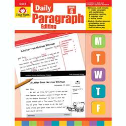 Daily Paragraph Editing Grade 6 By Evan-Moor