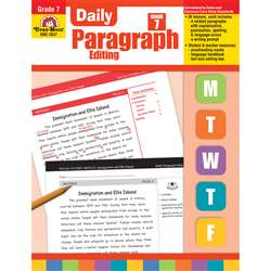 Daily Paragraph Editing Gr 7 By Evan-Moor