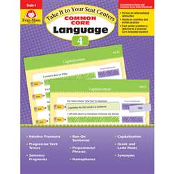 Gr 4 Take It To Your Seat Common Core Language Cen, EMC2874