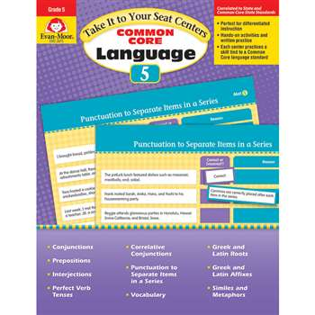 Gr 5 Take It To Your Seat Common Core Language Cen, EMC2875