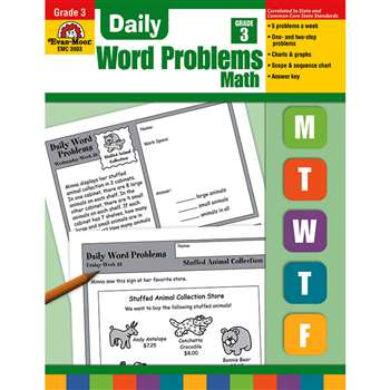Daily Word Problems Grade 3 By Evan-Moor
