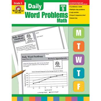 Daily Word Problems Grade 5 By Evan-Moor