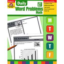 Daily Word Problems Grade 6 By Evan-Moor