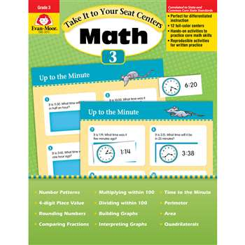 Take It To Your Seat Gr 3 Math Centers By Evan-Moor