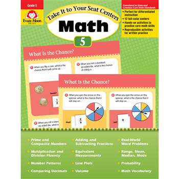 Take It To Your Seat Gr 5 Math Centers By Evan-Moor