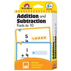 Flashcard Set Addition And Subtraction Fact To 10 By Evan-Moor