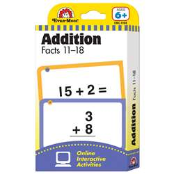 Flashcard Set Addition Facts 11 To 18 By Evan-Moor