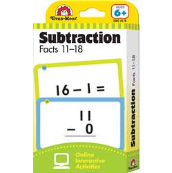 Flashcard Set Subtraction Facts 11 To 18 By Evan-Moor