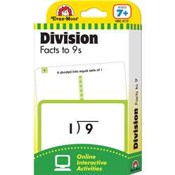 Flashcard Set Division Facts To 9S By Evan-Moor