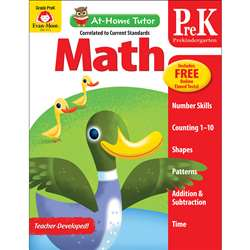 Home Tutor Math Pre K Counting 1-20, EMC4173
