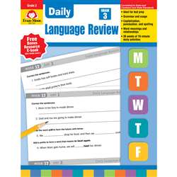 Daily Language Review Grade 3 By Evan-Moor