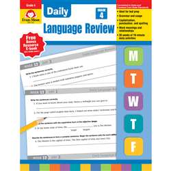 Daily Language Review Grade 4 By Evan-Moor
