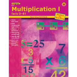 Multiplication 1 Facts 0-81 By Edupress