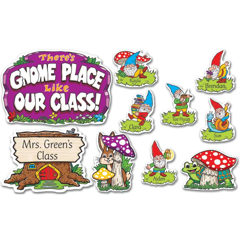 Theres Gnome Place Like Our Class Bulletin Board By