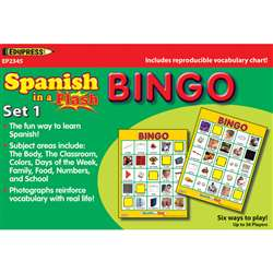 Spanish In A Flash Bingo Set 1 By Edupress