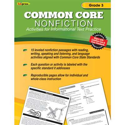 Shop Common Core Nonfiction Book Gr 3 - Ep-2352 By Edupress