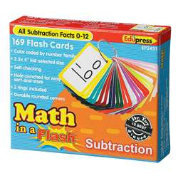 Math In A Flash Subtraction Flash Cards By Edupress