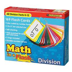 Math In A Flash Division Flash Card By Edupress