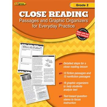 Close Reading Practice Book Gr 2, EP-2560