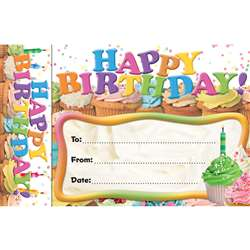Happy Birthday Cupcakes Bookmark Award By Edupress