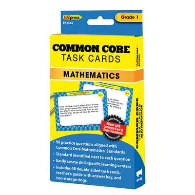 Shop Common Core Math Task Cards Gr 1 - Ep-3344 By Edupress