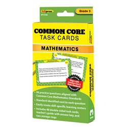 Shop Common Core Math Task Cards Gr 3 - Ep-3346 By Edupress