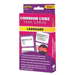 Shop Gr 4 Common Core Language Task Cards - Ep-3352 By Edupress