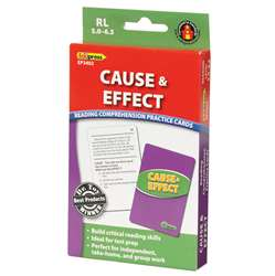 Cause & Effect Practice Cards Reading Levels 5.0-6.5 By Edupress