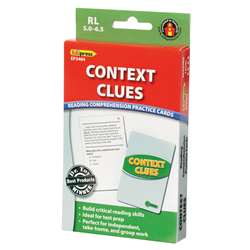 Context Clues Practice Cards Reading Levels 5.0-6.5 By Edupress
