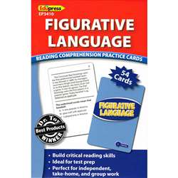 Figurative Language Reading Comprehension Practice Cards Blue By Edupress