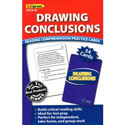 Drawing Conclusions Reading Comprehension Practice Cards Blue By Edupress