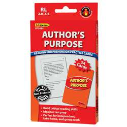 Authors Purpose Practice Cards, Red Level By Edupress