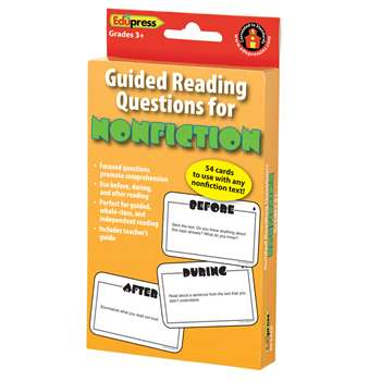 Guided Reading Question Cards Nonfiction By Edupress