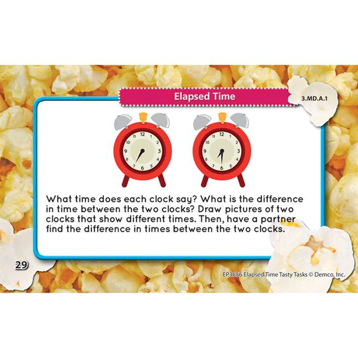 Math Tasty Task Cards Elapsed Time, EP-3656
