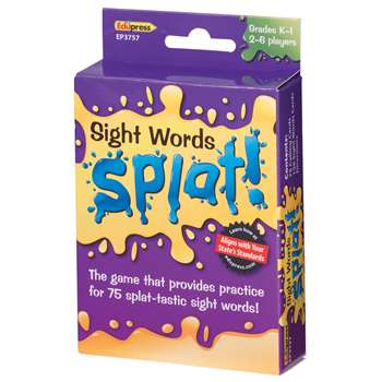 Sight Words Splat Gr K-1 By Edupress