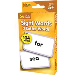 3 Letter Words Flash Cards Sight Words, EP-62039