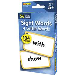 4 Letters Words Flash Cards Sight Words, EP-62040