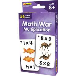 Math War Multiplication Flash Cards, EP-62048