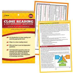 Quick Flip Guide For Close Reading And Text Depend, EP-670