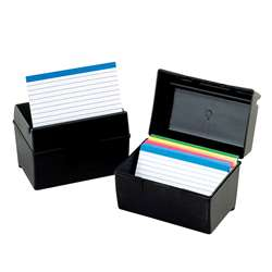 Oxford Plastic Index Card Boxes 3X5 By Esselte