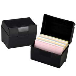 Oxford Plastic Index Card Boxes 4X6 By Esselte