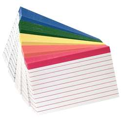Oxford Color-Coded Index Cards 4X6 By Esselte