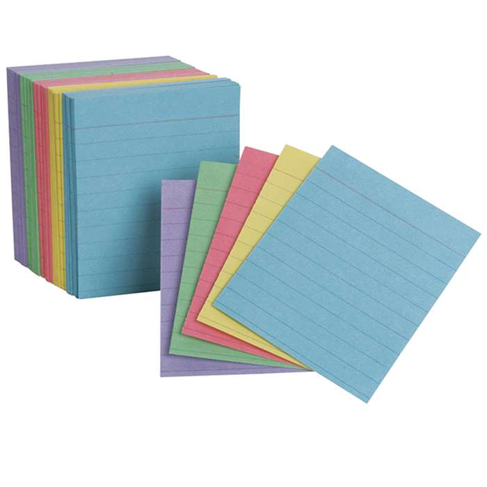 Oxfords Mini Index Cards Assorted Ruled By Esselte