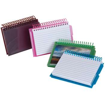 View Front Spiral Index Cards 3X5 Poly Cover By Esselte