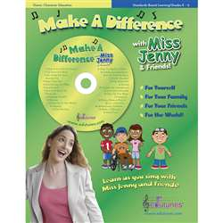 Make A Difference With Miss Jenny & Friends Cd Book Set By Edutunes