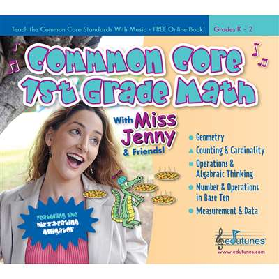 Common Core 1St Grade Math With Miss Jenny & Friends Cd Book Set By Edutunes